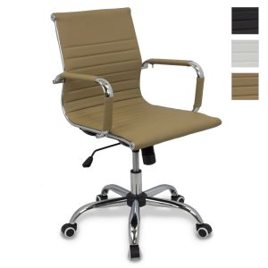 Silla de Oficina de Diseño - Silla Oficina Eames - Silla de Escritorio símil piel